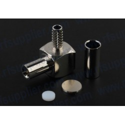 TS-9 Crimp Plug Right Angle connector for RG-174 (Novatel Wireless MC727,Sierra Wireless 597/885)