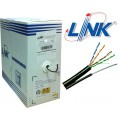 สายแลน UTP CAT5E PE OUTDOOR w/Drop Wire (Single Jacket)  ของ LINK (305m./ม้วน)