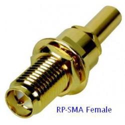 RP-SMA Female BKD Crimp ตรงกลางเป็นเข็ม) สำหรับ LLC200/LMR-200/CFD200/RG58U
