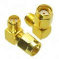 Adapter, RP-SMA male to RP-SMA female Right Angle