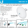 NBE-5AC-16, NanoBeam 5AC 5GHz Wireless-AC 16dBi Throughput 450+ Mbps