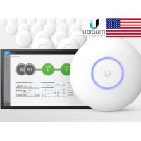 Unifi UAP‑AC‑PRO -E 2.4GHz & 5GHZ Dual Band indoor High power Wireless-b/g/n/ac (-E = ไม่มี POE ในกล่อง)